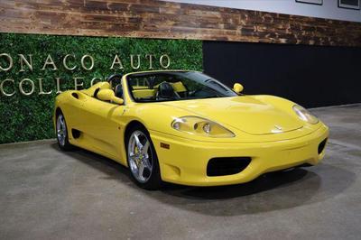2001 Ferrari 360 Spider F1 for sale VIN: ZFFYT53B000123810