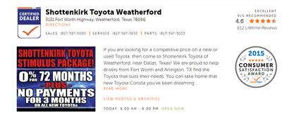Shottenkirk Toyota of Weatherford Image 1