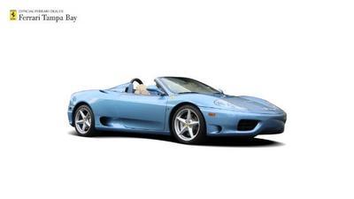 2001 Ferrari 360 Spider  for sale VIN: ZFFYT53A310125945