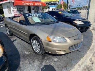 used 2003 Chrysler Sebring car, priced at $3,995
