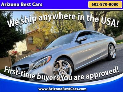 used 2017 Mercedes-Benz C-Class car, priced at $28,000