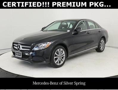 used 2018 Mercedes-Benz C-Class car, priced at $27,900