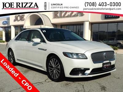 used 2017 Lincoln Continental car, priced at $32,990