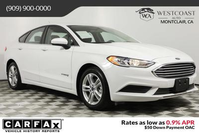 used 2018 Ford Fusion Hybrid car, priced at $17,648