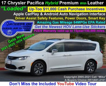 used 2018 Chrysler Pacifica Hybrid car, priced at $27,750