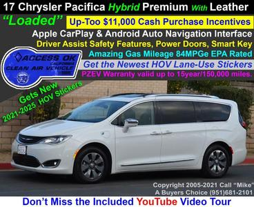 used 2018 Chrysler Pacifica Hybrid car, priced at $25,999