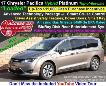 used 2018 Chrysler Pacifica Hybrid car, priced at $26,999