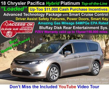 used 2018 Chrysler Pacifica Hybrid car, priced at $28,250