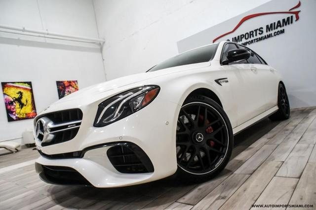 used 2018 Mercedes-Benz AMG E 63 car, priced at $83,888