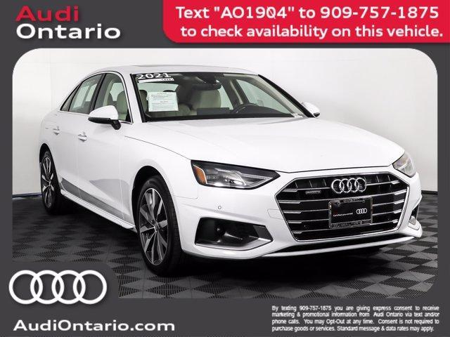 used 2021 Audi A4 car, priced at $37,000