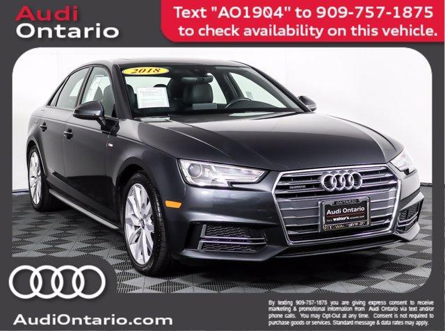 used 2018 Audi A4 car, priced at $27,882
