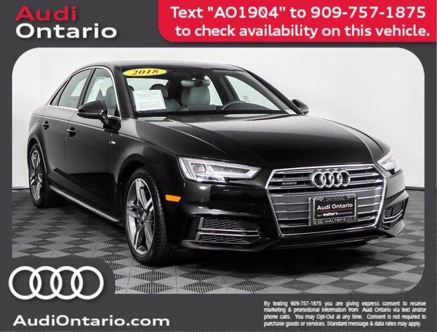 used 2018 Audi A4 car, priced at $34,500