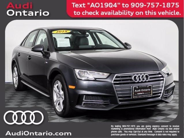 used 2018 Audi A4 car, priced at $25,300