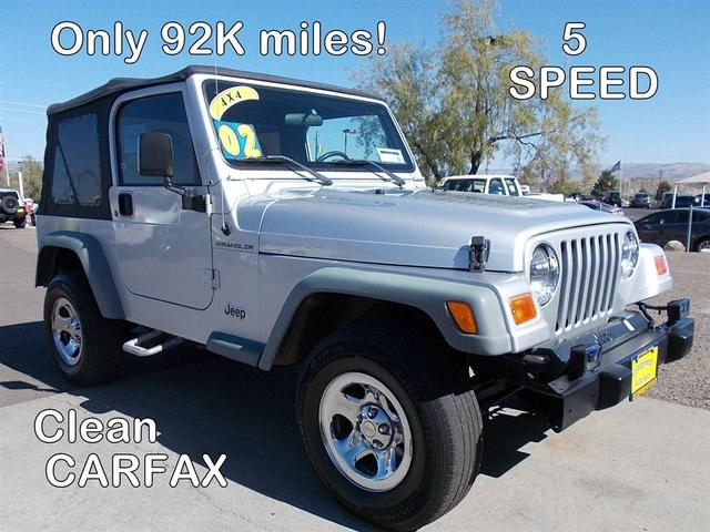 used 2002 Jeep Wrangler car, priced at $14,995