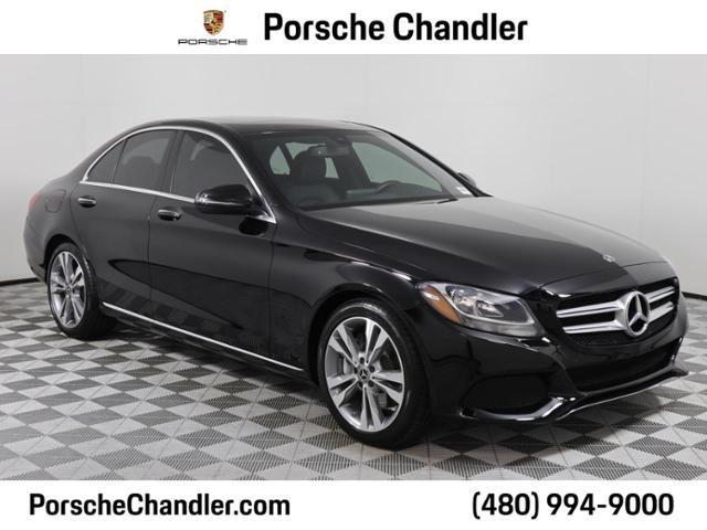 used 2018 Mercedes-Benz C-Class car, priced at $33,500