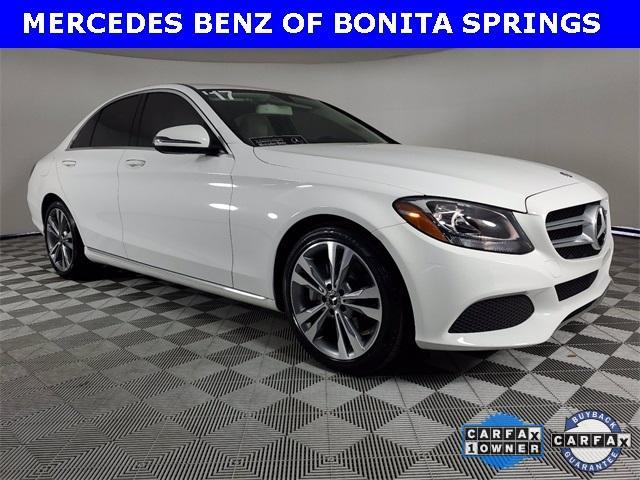 used 2017 Mercedes-Benz C-Class car, priced at $29,545