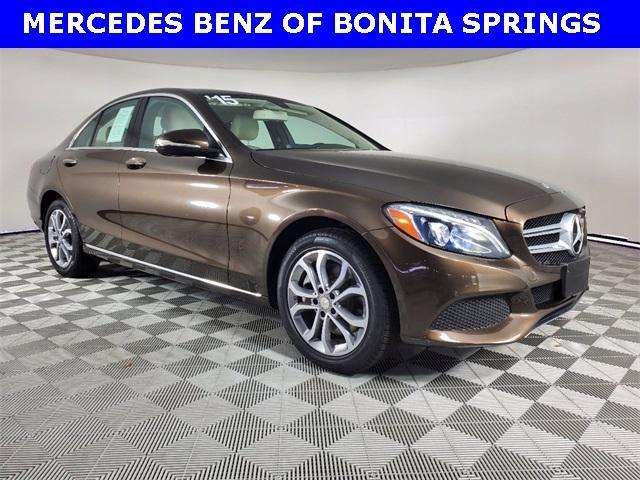 used 2015 Mercedes-Benz C-Class car, priced at $22,427