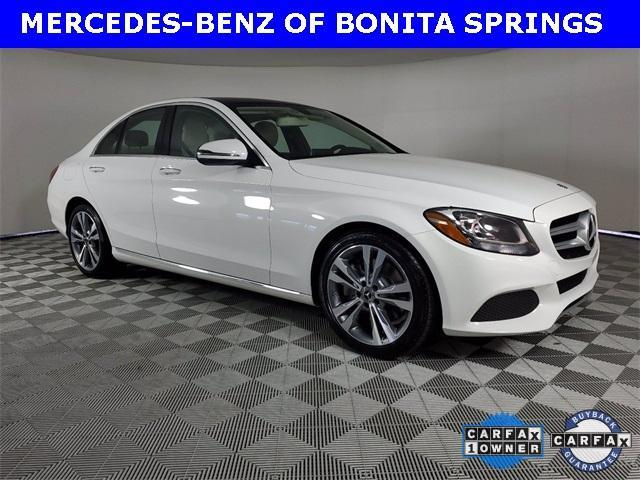 used 2018 Mercedes-Benz C-Class car, priced at $33,482