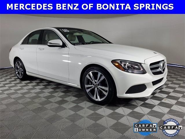 used 2018 Mercedes-Benz C-Class car, priced at $32,428