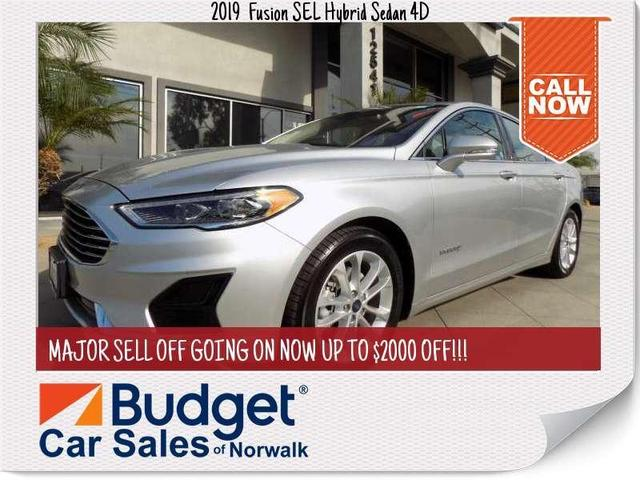 used 2019 Ford Fusion Hybrid car, priced at $21,500