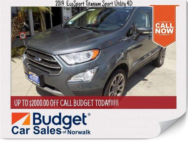 used 2019 Ford EcoSport car, priced at $21,999