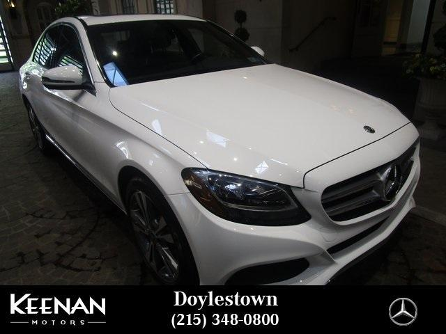used 2018 Mercedes-Benz C-Class car, priced at $34,891