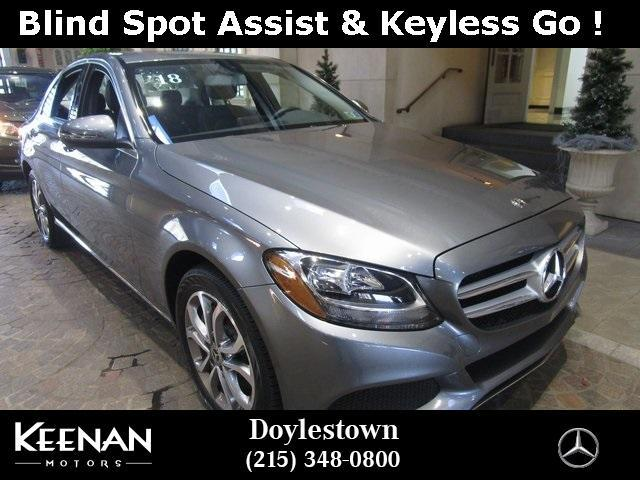 used 2018 Mercedes-Benz C-Class car, priced at $37,891