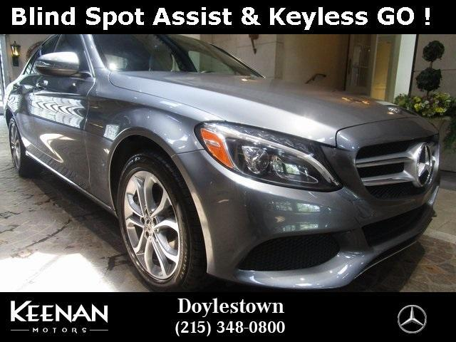 used 2018 Mercedes-Benz C-Class car, priced at $33,891