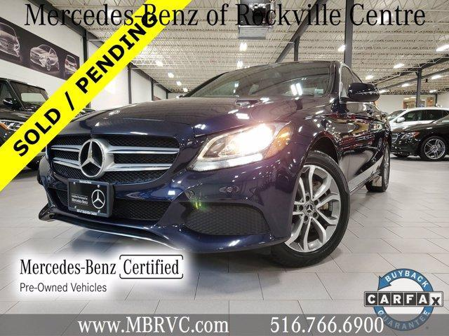 used 2018 Mercedes-Benz C-Class car, priced at $31,887
