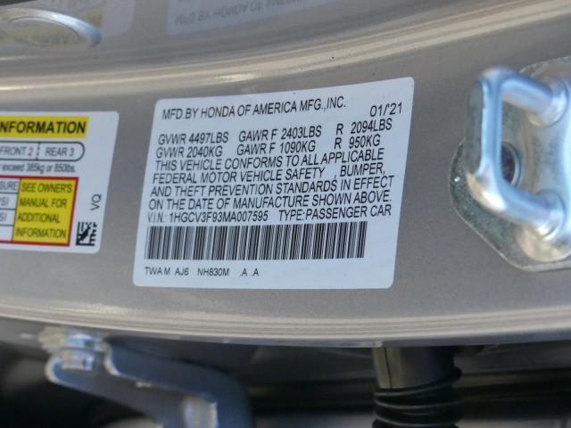 new 2021 Honda Accord Hybrid car, priced at $37,435