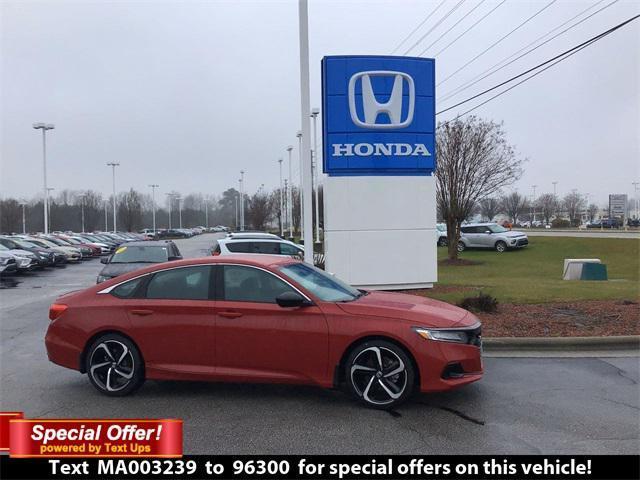 new 2021 Honda Accord car, priced at $29,675