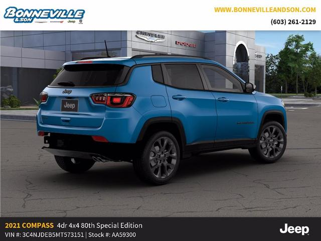 new 2021 Jeep Compass car, priced at $34,794