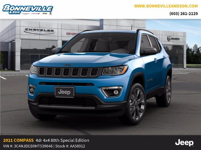 new 2021 Jeep Compass car, priced at $34,264