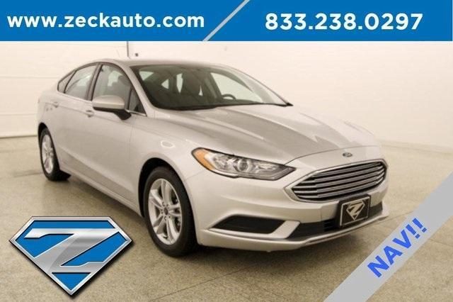 used 2018 Ford Fusion car, priced at $18,000