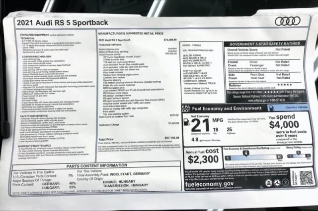 new 2021 Audi RS 5 car