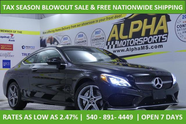 used 2018 Mercedes-Benz C-Class car, priced at $33,400